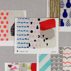 水縞ぽち袋 Textile Patterns, Geometric Patterns, Logo Design, Graphic Design, Monochrom, Paper Goods, Paper Design, Surface Design, Packaging Design