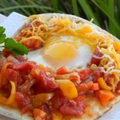 Poached Eggs in Stewed Tomatoes