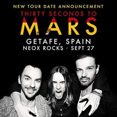 This could be your last chance, Want to join MARS in PARIS or LONDON later this week? Click the link in our bio + YOU could win 2 tix to the shows, on us. Thirty Seconds To Mars, 30 Seconds, Shannon Leto, Love And Lust, Best Rock, Band Photos, Pop Bands, Save My Life, Jared Leto