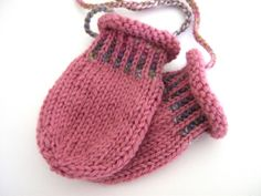 """Baby Mittens Knitting for Beginners   Baby Mittens """"Mitts on a String"""" Pattern"""