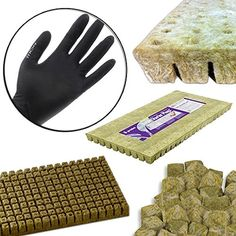 Grodan 1x1 Inch A OK Starter Plugs Cubes Count Stone Rockwool Grow Media Propagation W THCity Lightning Gloves Quantity 25 >>> Click on the image for additional details. (This is an affiliate link) #GardeningandLawnCare