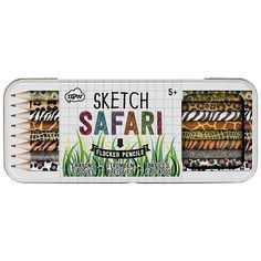 Buy Natural Products Safari Sketch Flocked Pencils, Set of 8 Online at johnlewis.com