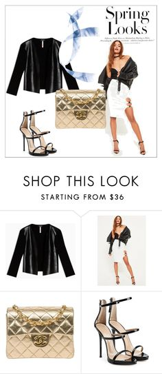 """'' Spring Looks ''"" by aldina-dinka ❤ liked on Polyvore featuring Max&Co., Missguided, Chanel, Giuseppe Zanotti and H&M"