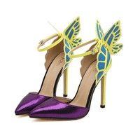 Wish   Butterfly Wings Woman High heels Fashion Elegant Shoes  Nightclub High-heels Wedding Party Shoes BRE