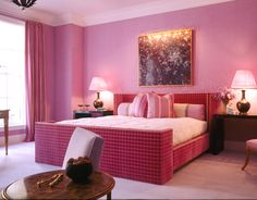 A pink bedroom means you'd use your bedroom for entertaining if it were socially acceptable.