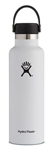 Hydro Flask 18 oz Double Wall Vacuum Insulated Stainless Steel Leak Proof Sports Water Bottle, Standard Mouth with BPA Free Flex Cap, White. For product & price info go to:  https://all4hiking.com/products/hydro-flask-18-oz-double-wall-vacuum-insulated-stainless-steel-leak-proof-sports-water-bottle-standard-mouth-with-bpa-free-flex-cap-white/