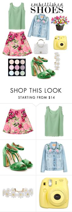 """""""Spring"""" by av-leigh ❤ liked on Polyvore featuring Love Moschino, Rupert Sanderson, Chanel, Humble Chic, Fujifilm and Improvements"""