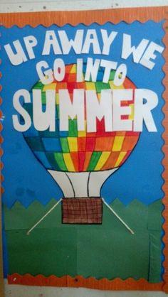 Pre K preschool bulletin board summer