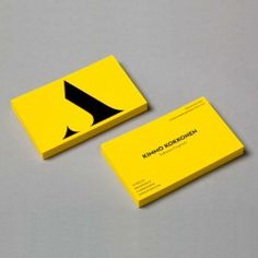 Yellow Letterpress Business Card This name is so cute quirky I