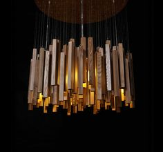 Wood Ceiling Lamp pendant lamp ceiling lamp wood por industlamp, $468.00