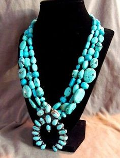 Navajo-Vintage-Royston-Turquoise-Sterling-Squash-Blossom-Necklace-JN0015