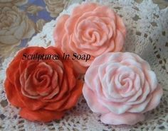 Rose Blossom Blooming Rose Flower Silicone Soap Mold by grandhorse, $22.00