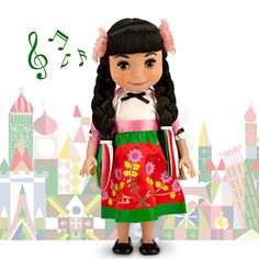 ''it's a small world''  She's adorable!