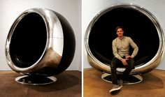 """Ever stared out of your plane window at the jet engine and thought """"Hey, that thing would make an AWESOME chair!""""? Well, the guys at UK-based furniture design company Fallen Furniture did, and the 737 Cowling Chair is the result."""