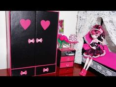 ▶ How to make a wardrobe for dolls Monster High, Barbie, etc - YouTube