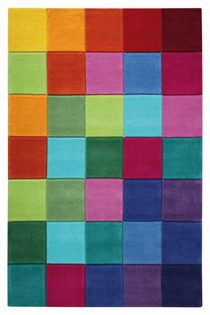 Smart Square vloerkleed 110 x 170 cm - Esprit Square Rugs, Damier, Modern Rugs, New Homes, Carpet, Colours, Abstract, Pattern, Design