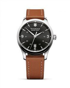450.00$  Buy here - http://viwws.justgood.pw/vig/item.php?t=ewz23m26667 - Victorinox Swiss Army Alliance Leather Strap Watch, 40mm 450.00$