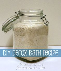 Make this simple detox bath recipe with 5 ingredients you probably already have in your house!