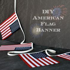 Oh Sew Crafty Life: American Flag Banner Tutorial and My 4th of July Mantle