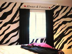 Zebra Wall with a window...