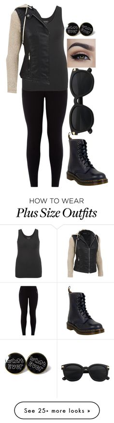 """Morning Robbery"" by women-of-justice on Polyvore featuring New Look, maurices, Dr. Martens and plus size clothing"
