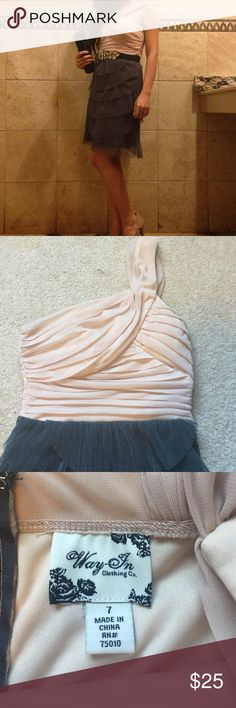 Elegant layering dress I bought it at Nordstrom, and wore once for a wedding. Dresses One Shoulder