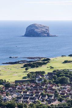 Bass Rock as seen from Berwick Law, North Berwick, Scotland