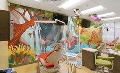 Jungle Zipline Theming in Dental Office | A-dec 300 Dental Equipment