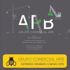 WebSite #emConstrução #grupoAPB #logomarca