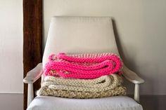 Eleventh Hour Marled Blanket   Purl Soho  #knitting #freepattern