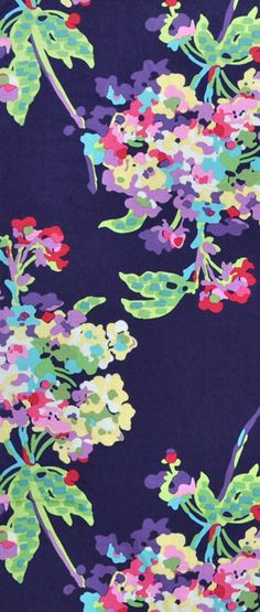 Purple Amy Butler Water Bouquet Midnight Fabric $9.35 per yard