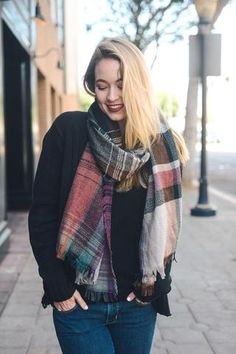 Coffee Date Plaid Scarf - Rust - Anchored Hope Boutique