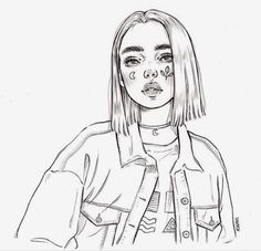 Art Sketches Girl 👨🎨👩🎨 DIY craft hobby ideas for beginners? Sketch & D Girl Drawing Sketches, Cool Art Drawings, Pencil Art Drawings, Sketch Art, Tumblr Sketches, Drawing With Pencil, Tumblr Girl Drawing, Girl Drawings, Drawing Faces