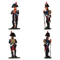 """Artillero - Artillería a pie - 1805 (Colección """"Soldados de las Guerras Napoleónicas"""" editada por delPrado - 60 mm)"""