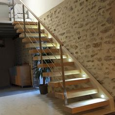 Staircase on Amazing Stairs Ideas 1452 Basement Stairs, House Stairs, Modern Small House Design, Escalier Design, Wooden Steps, Metal Railings, Italian Home, Modern Staircase, Fireplace Design