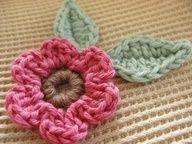 Organic Crochet Flower Blanket Rose