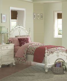 This White Ariana Bedroom Furniture by HomeBelle is perfect! #zulilyfinds