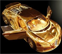 This is the world's most expensive model car. The Bugatti Veyron Diamond is on sale for two million pounds –it has been created with platinum, solid 24ct gold, & a 7.2ct single cut flawless diamond on its front grill