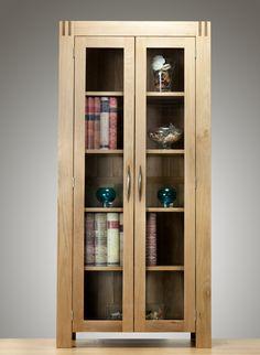 Alto Solid Oak - Display Cabinet - Oak Furniture Land www.oakfurnitureland.co.uk