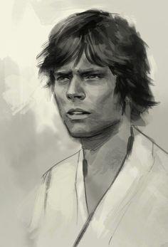 Luke Skywalker by idrawgirls