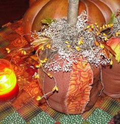 DIY Halloween : DIY make a Primitive Fabric Raggedy Pumpkin