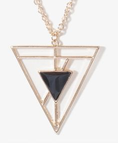 Cutout Triangle Medallion Necklace | FOREVER21 - 1034615391