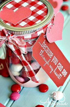 FREE Valentine Printables and Heart Candy Jar Tutorial