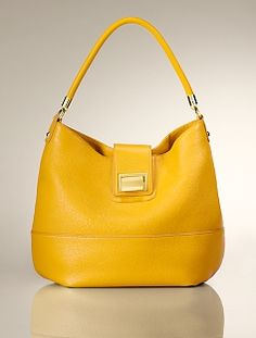 marigold Pebbled Leather Hobo