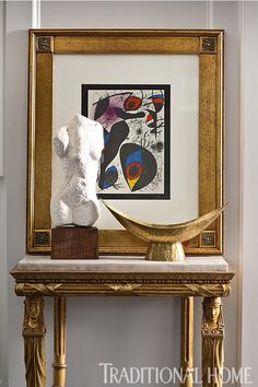 Grand Foyer by Michael Herold Design.  Hampton Designer Showhouse 2013.  Lithograph by Joan Miro.