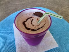Grasshopper Milkshake made with Mint Hot Cocoa Recipe.