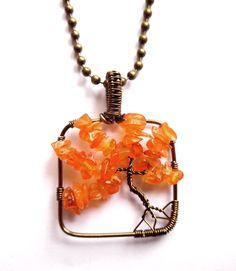 Small tree of life pendant with carnelian. Lady of the Lake Smycken http://ladyofthelake.se