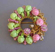 Miriam Haskell jewellery.