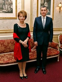Noblesse & Royautés » Queen Margarita and Prince Radu of Romania at Royal Albert Hall, London