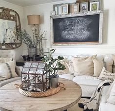 10 Most Popular Rustic Farmhouse Living Room Interior Design Ideas Living Room Interior, Living Room Decor, Living Rooms, Fixer Upper Living Room, Living Room Tables, Kitchen Living, Dining Table, French Country Living Room, Country Bedrooms